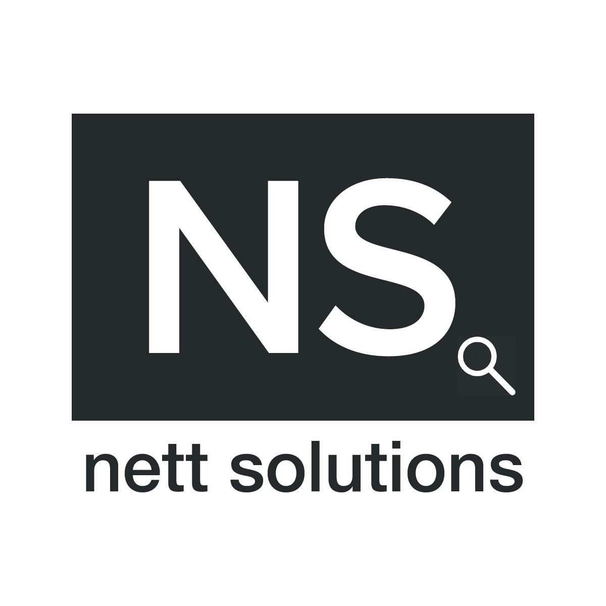 nett solutions logo black